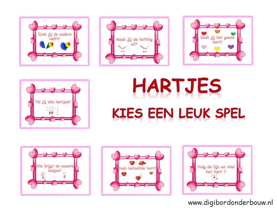 hartjes Kies een leuk spel www.digibordonderbouw.nl
