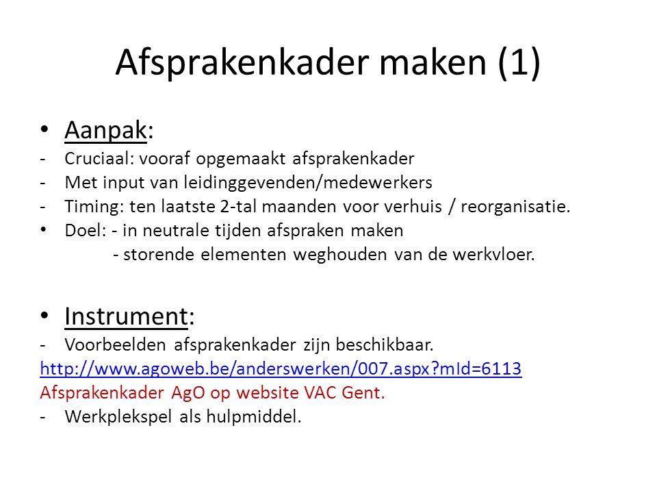Afsprakenkader maken (1)