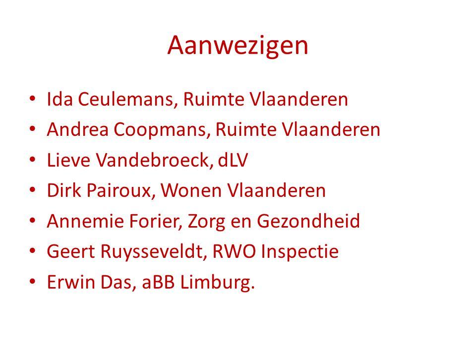 Aanwezigen Ida Ceulemans, Ruimte Vlaanderen