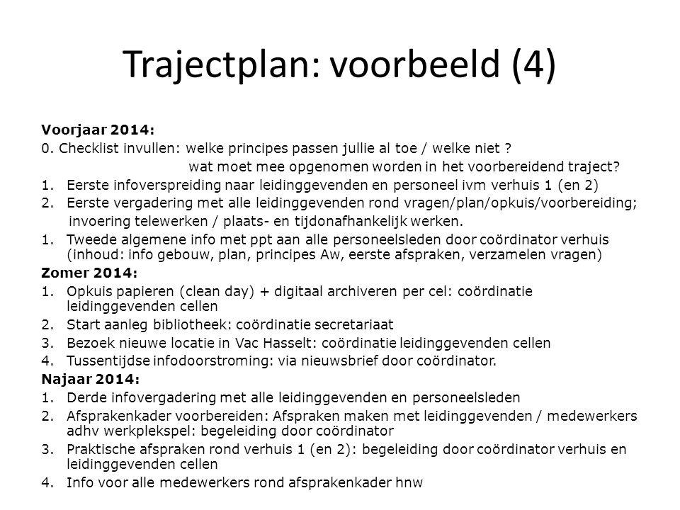 Trajectplan: voorbeeld (4)