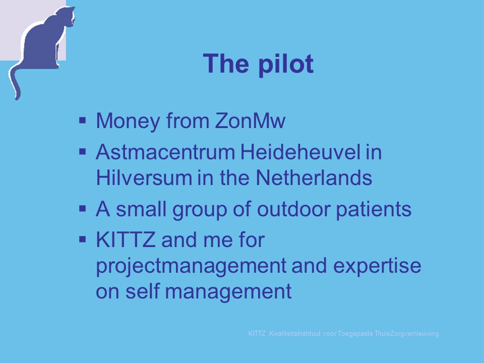 The pilot Money from ZonMw