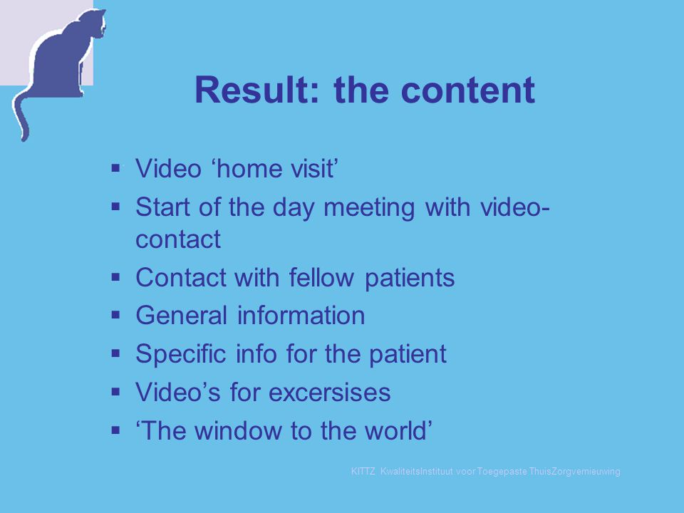 Result: the content Video 'home visit'