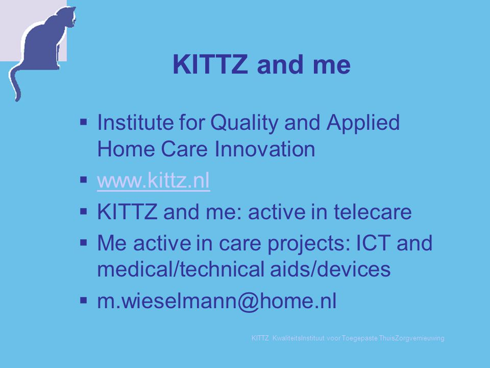 KITTZ and me Institute for Quality and Applied Home Care Innovation