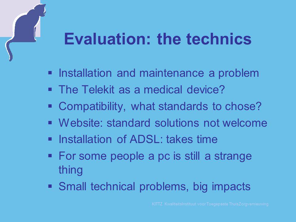 Evaluation: the technics
