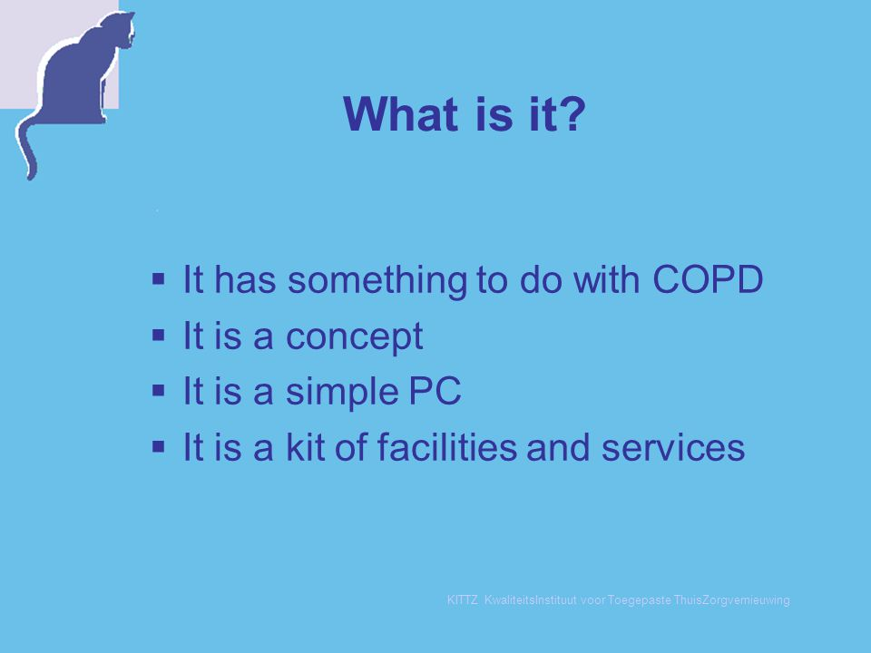 What is it It has something to do with COPD It is a concept