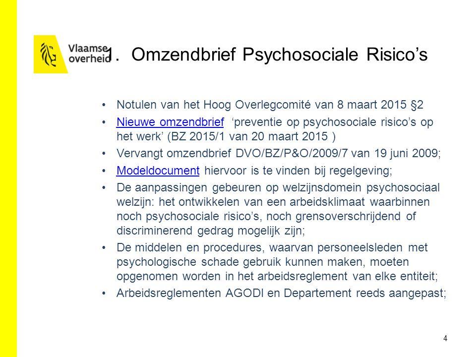 Omzendbrief Psychosociale Risico's