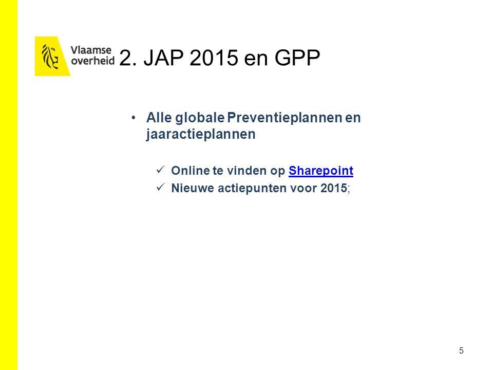 2. JAP 2015 en GPP Alle globale Preventieplannen en jaaractieplannen