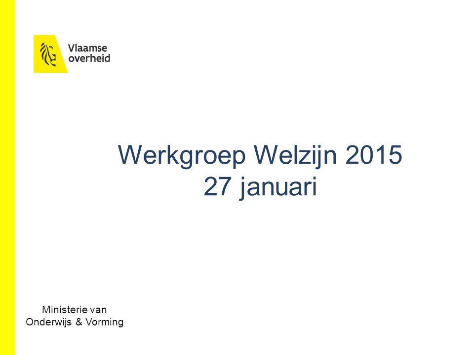 Werkgroep Welzijn 2015 27 januari