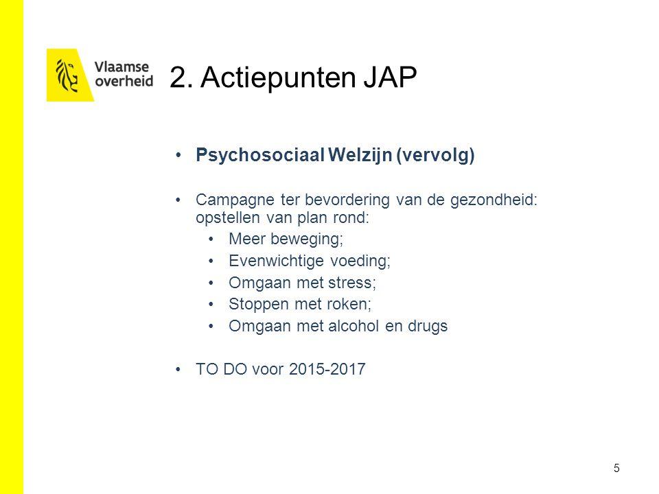 2. Actiepunten JAP Psychosociaal Welzijn (vervolg)