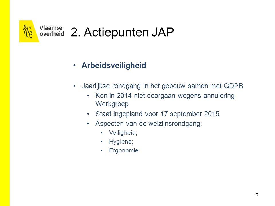 2. Actiepunten JAP Arbeidsveiligheid