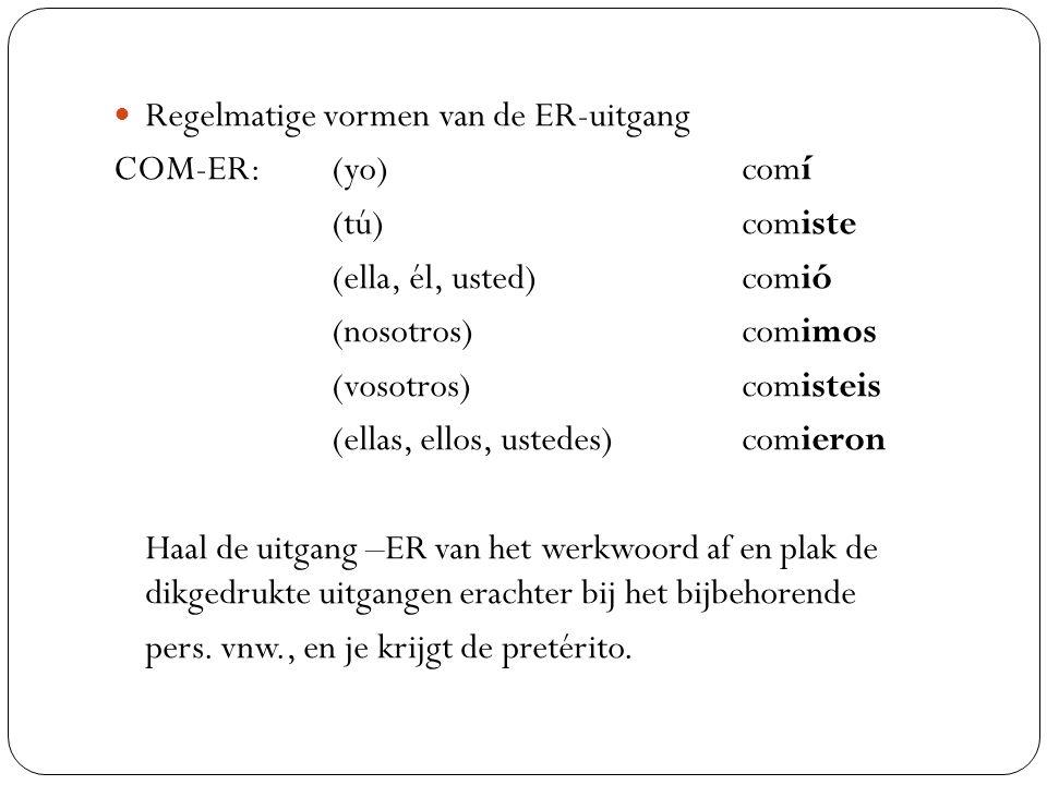 Regelmatige vormen van de ER-uitgang