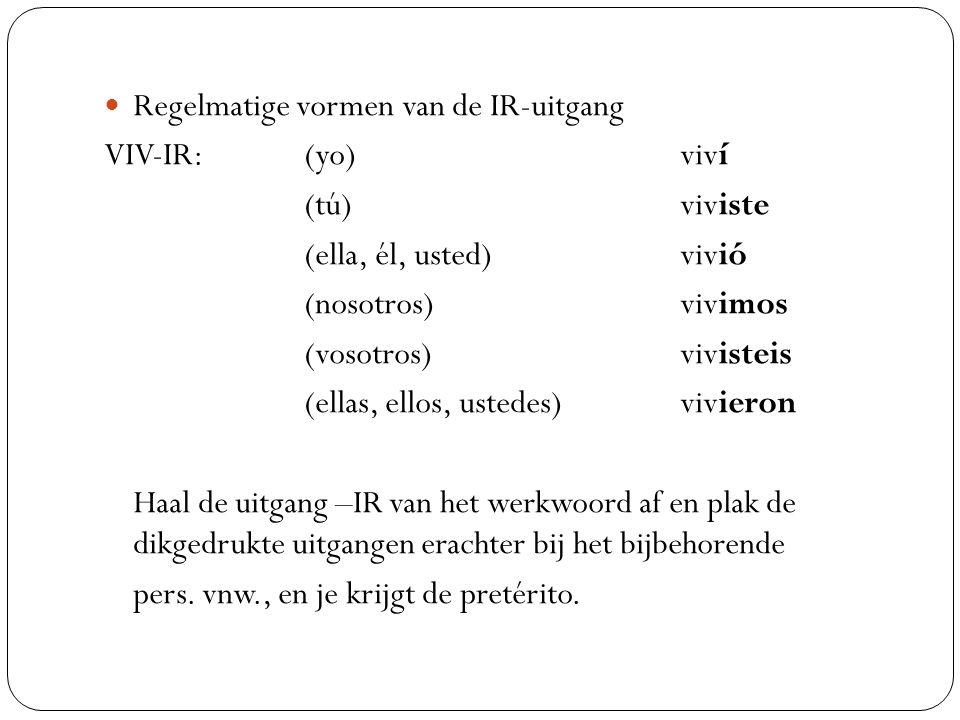 Regelmatige vormen van de IR-uitgang
