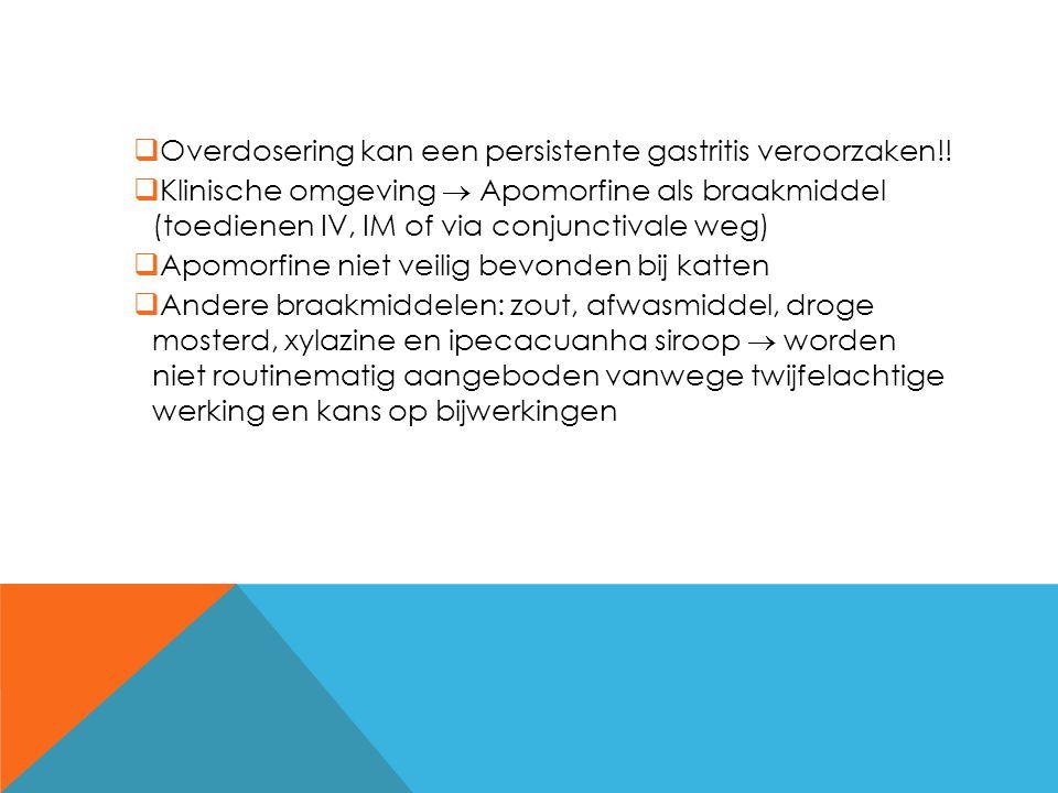 Overdosering kan een persistente gastritis veroorzaken!!