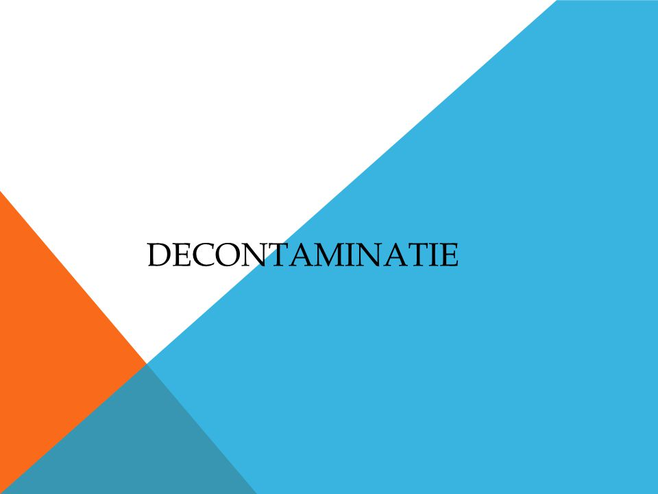 DECONTAMINATIE
