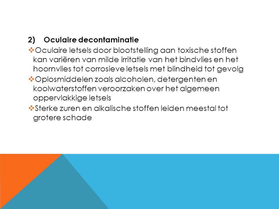 Oculaire decontaminatie