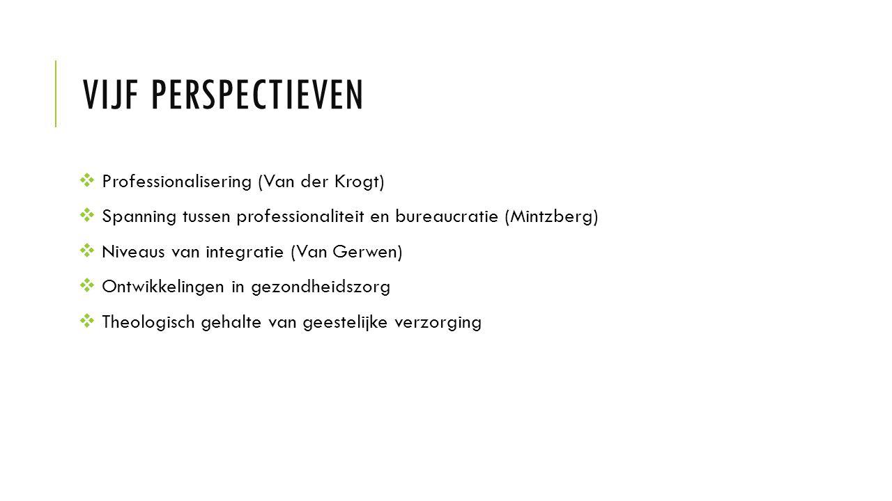 Vijf perspectieven Professionalisering (Van der Krogt)