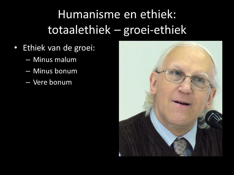 Humanisme en ethiek: totaalethiek – groei-ethiek