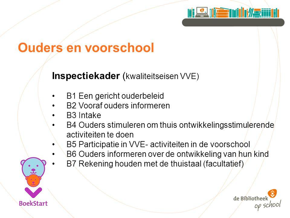 Ouders en voorschool Inspectiekader (kwaliteitseisen VVE)