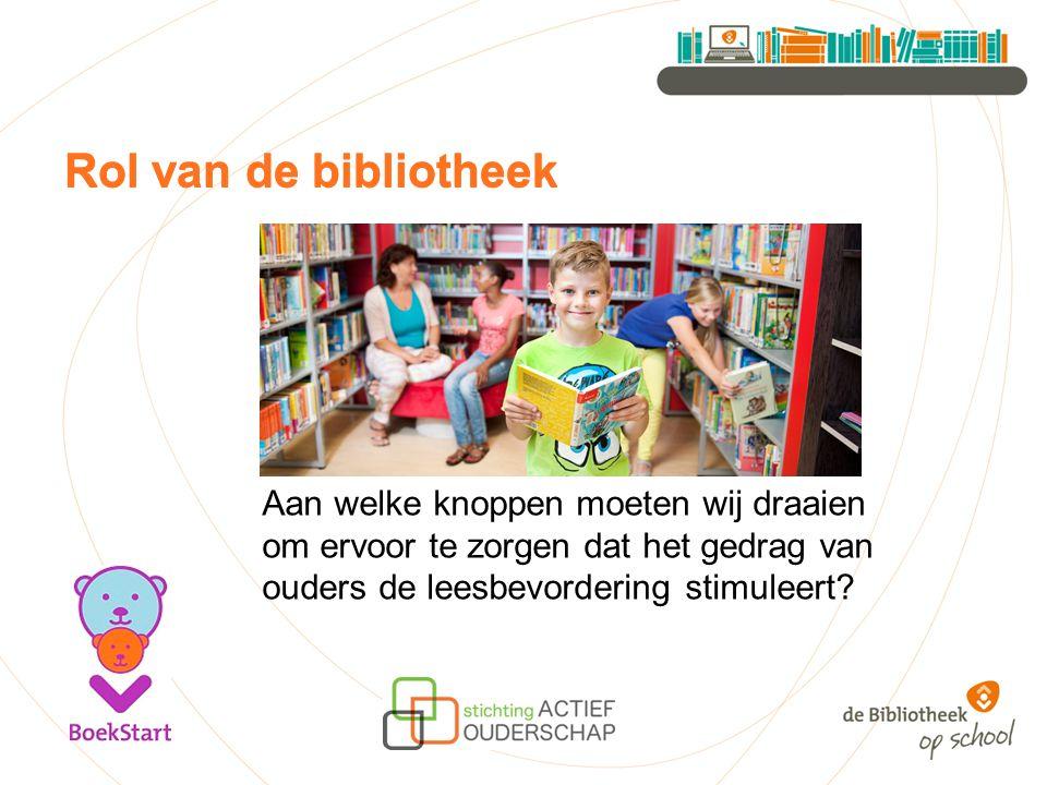 Rol van de bibliotheek Rol van de bibliotheek
