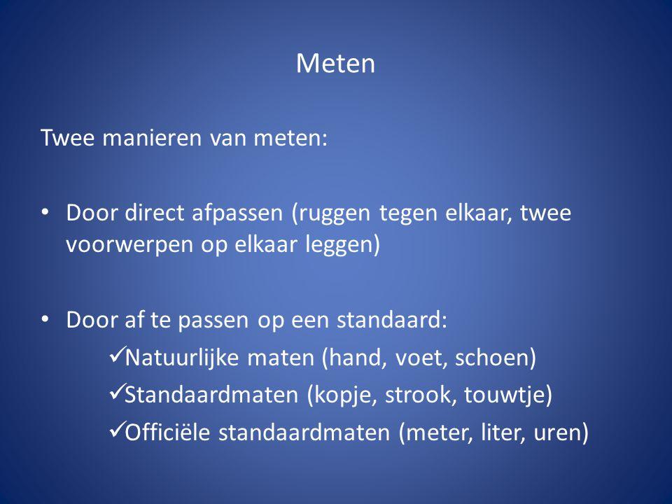 Meten Twee manieren van meten: