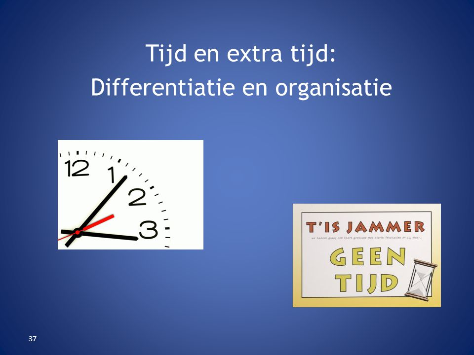 Differentiatie en organisatie