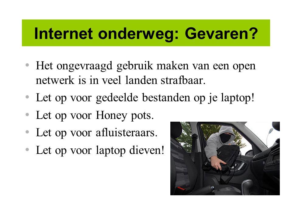 Internet onderweg: Gevaren