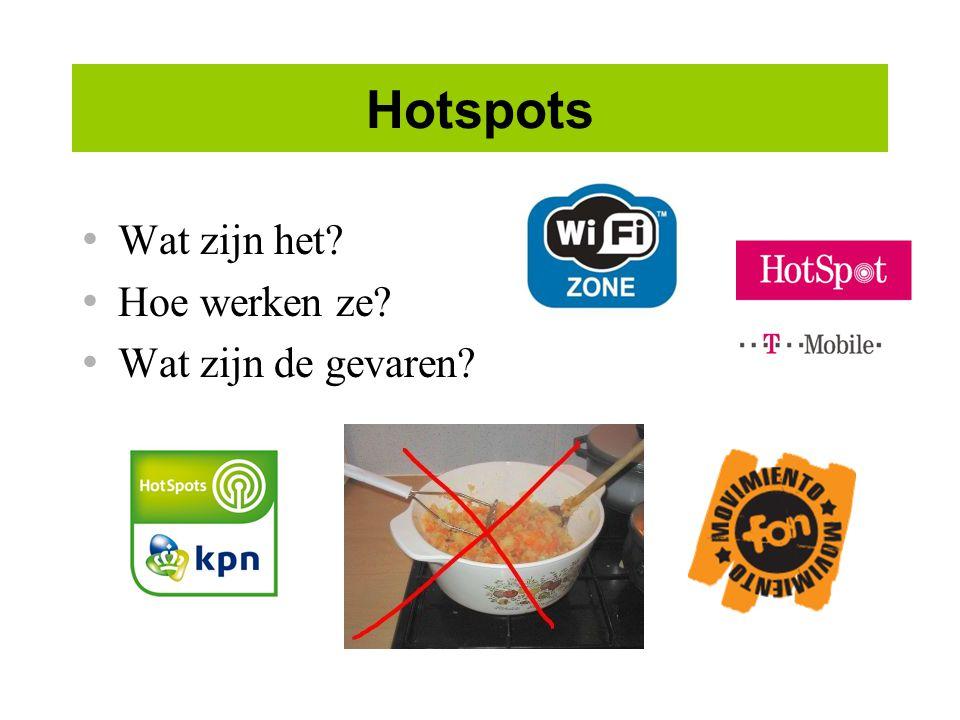 Hotspots Wat zijn het Hoe werken ze Wat zijn de gevaren