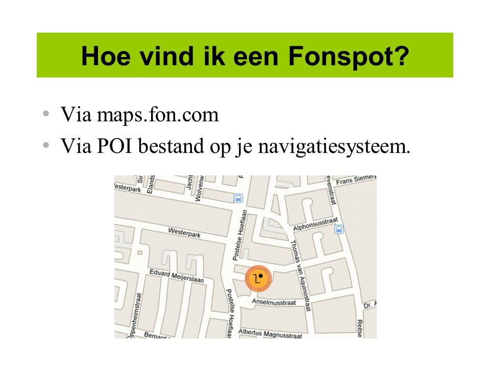 Hoe vind ik een Fonspot Via maps.fon.com