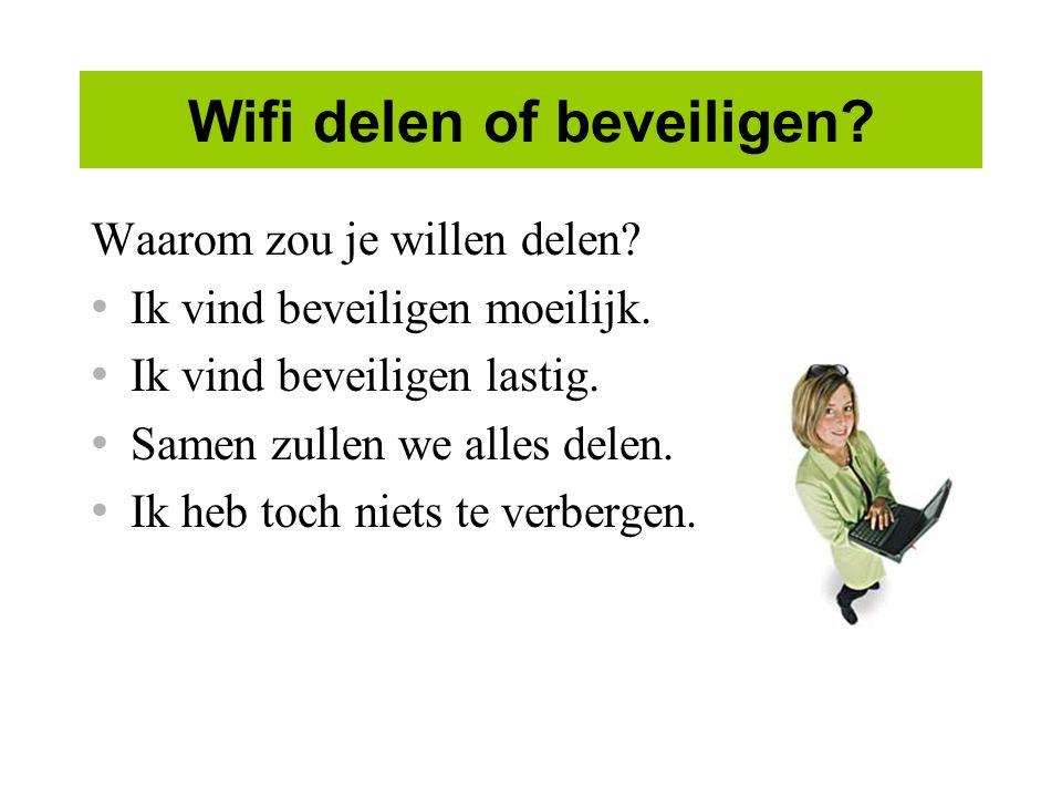 Wifi delen of beveiligen