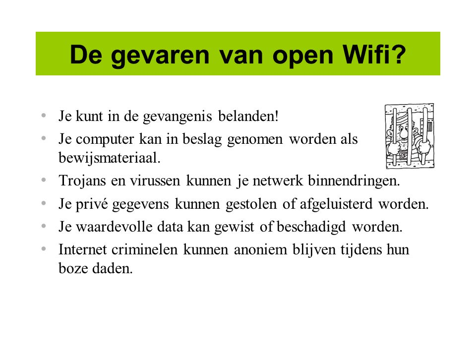 De gevaren van open Wifi