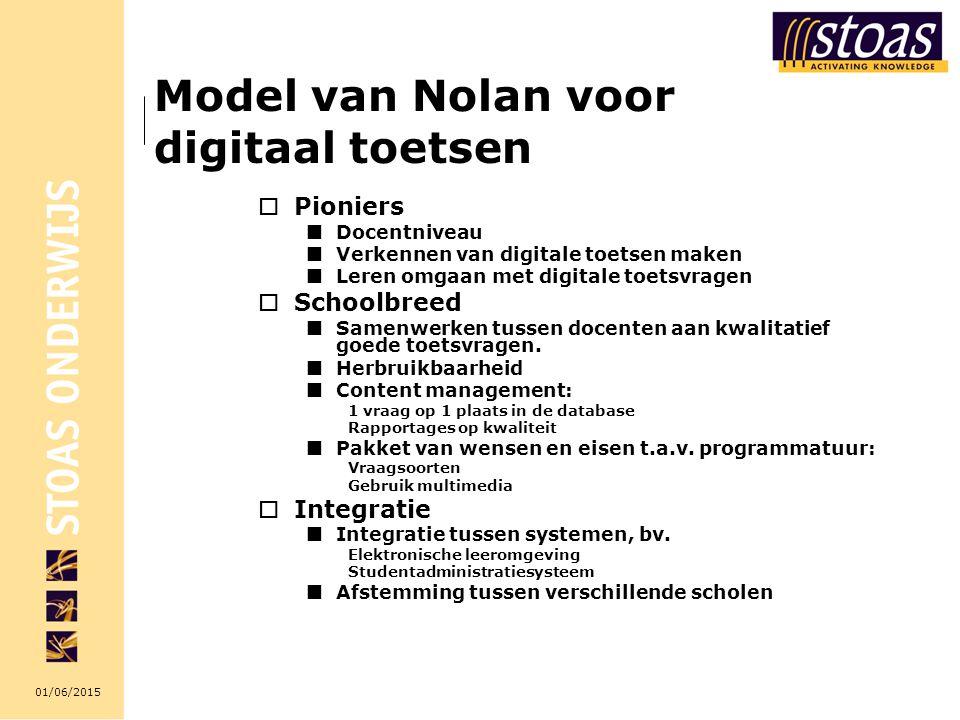 Model van Nolan voor digitaal toetsen