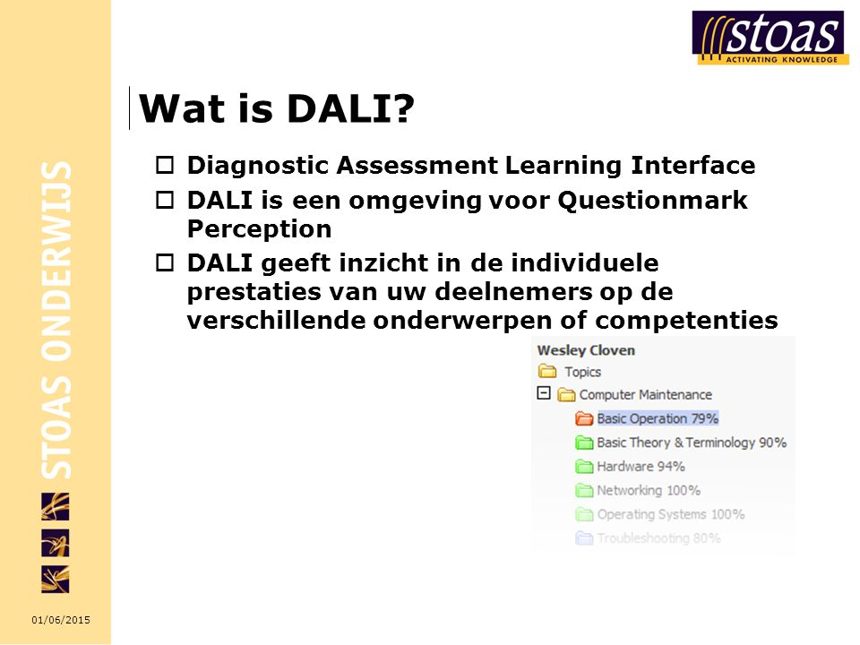 Wat is DALI Diagnostic Assessment Learning Interface
