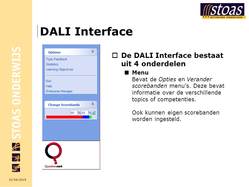 DALI Interface De DALI Interface bestaat uit 4 onderdelen