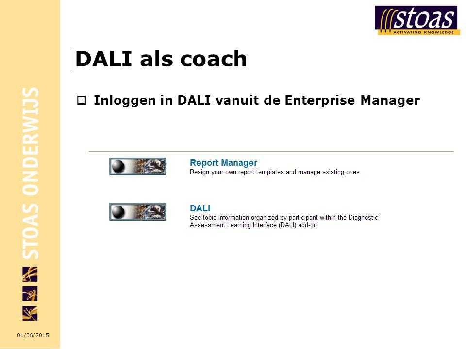 DALI als coach Inloggen in DALI vanuit de Enterprise Manager