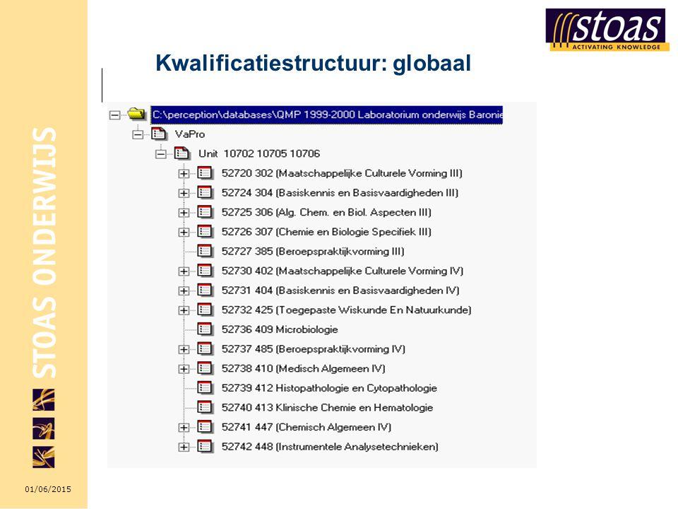 Kwalificatiestructuur: globaal