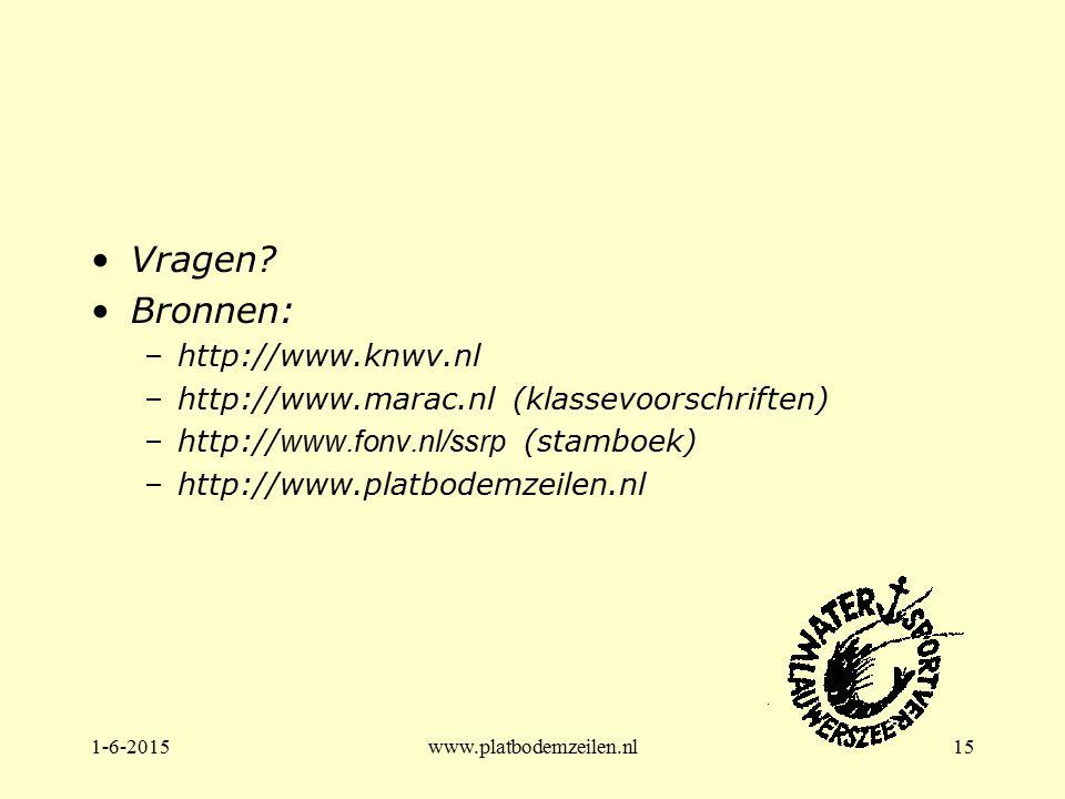 Vragen Bronnen: http://www.knwv.nl