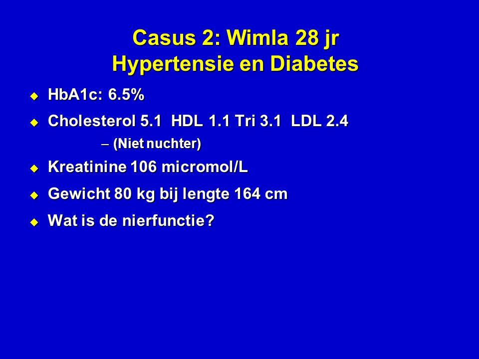 Casus 2: Wimla 28 jr Hypertensie en Diabetes