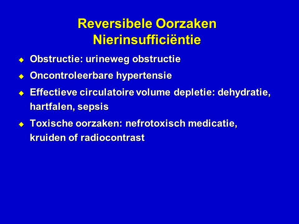 Reversibele Oorzaken Nierinsufficiëntie