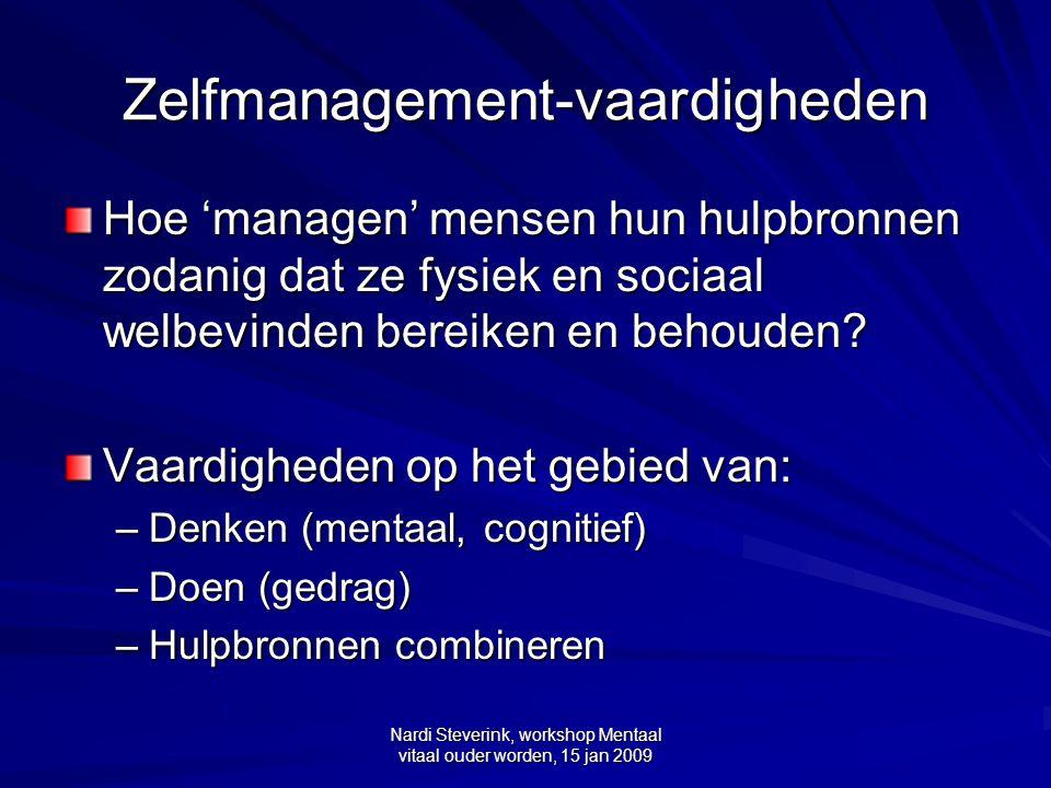 Zelfmanagement-vaardigheden