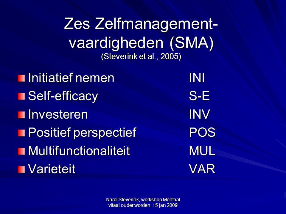 Zes Zelfmanagement-vaardigheden (SMA) (Steverink et al., 2005)