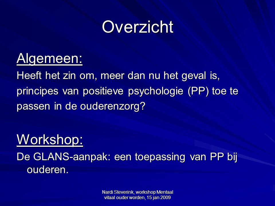 Nardi Steverink, workshop Mentaal vitaal ouder worden, 15 jan 2009