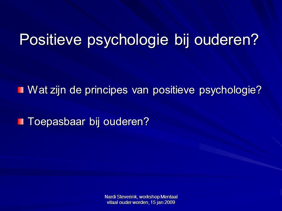 Positieve psychologie bij ouderen