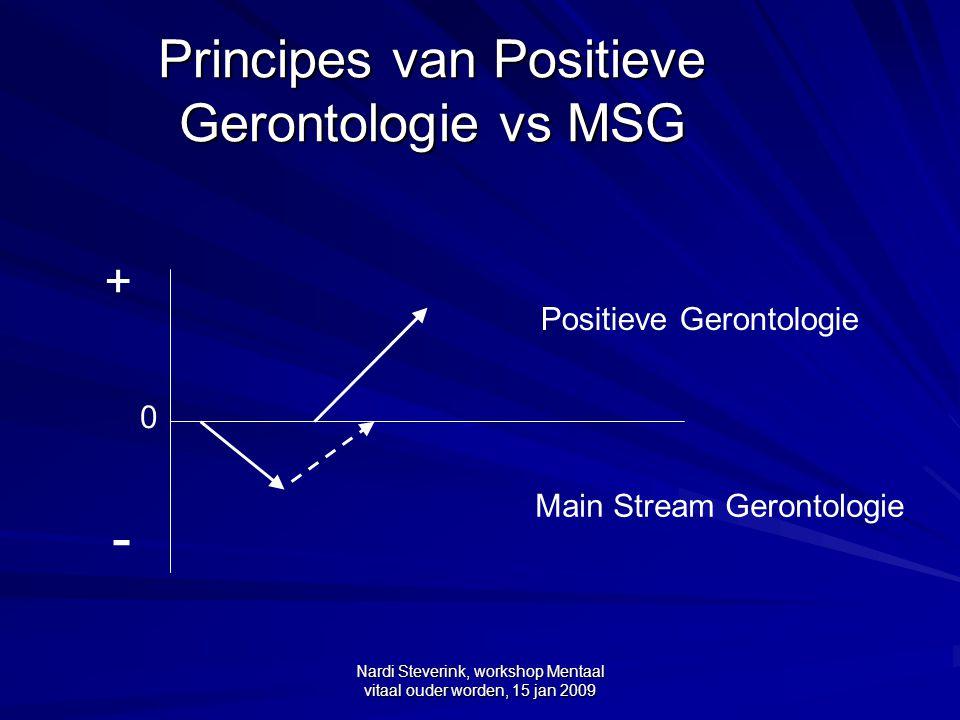 Principes van Positieve Gerontologie vs MSG
