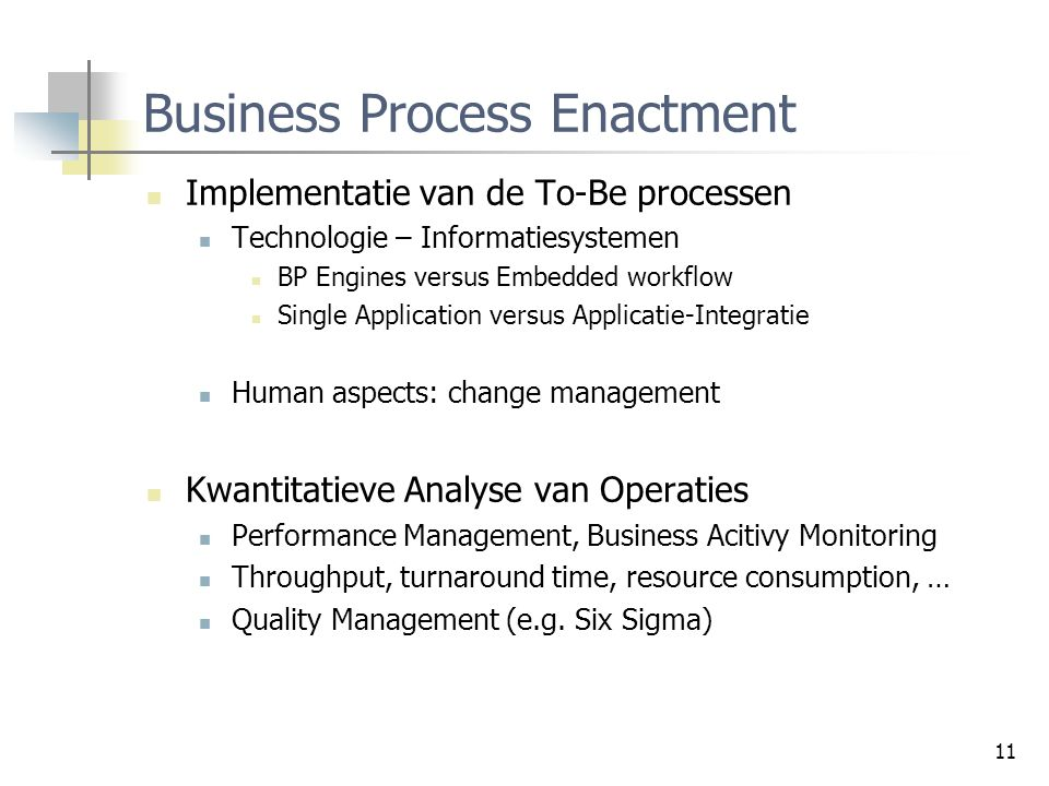Business Process Enactment
