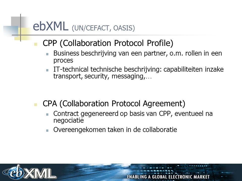 ebXML (UN/CEFACT, OASIS)