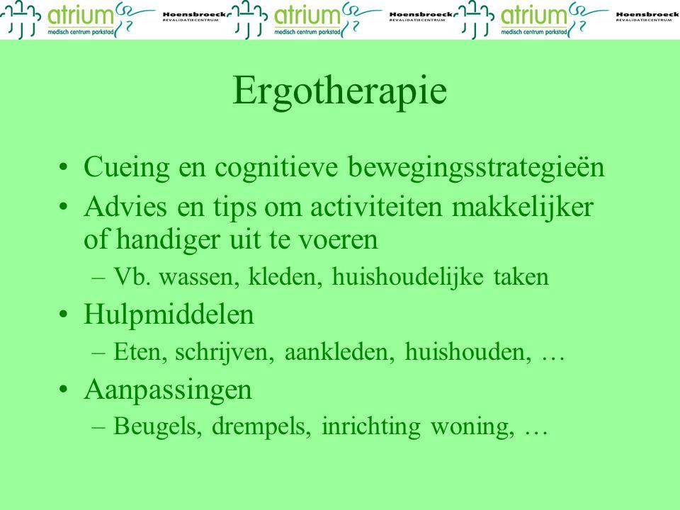 Ergotherapie Cueing en cognitieve bewegingsstrategieën
