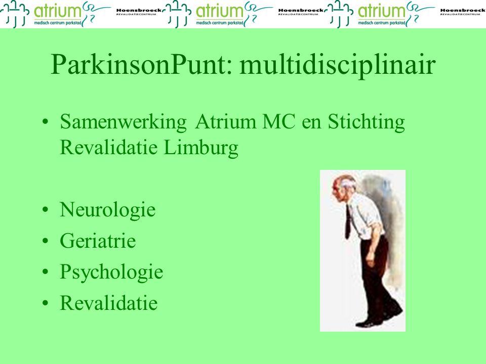 ParkinsonPunt: multidisciplinair
