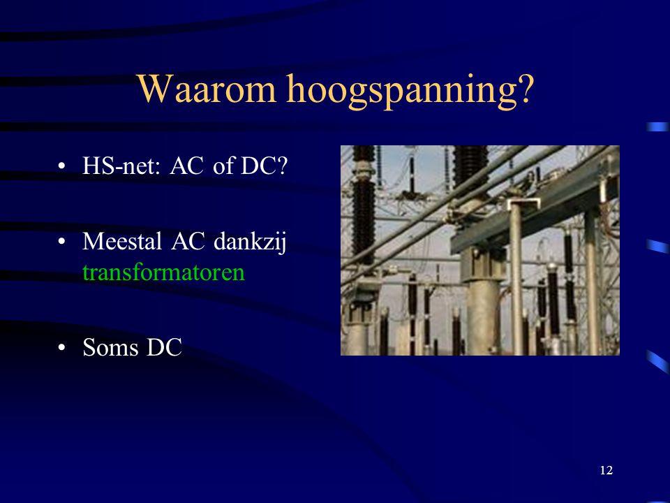 Waarom hoogspanning HS-net: AC of DC
