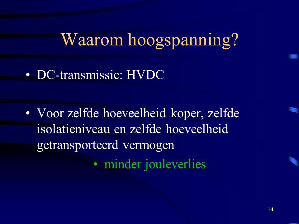 Waarom hoogspanning DC-transmissie: HVDC