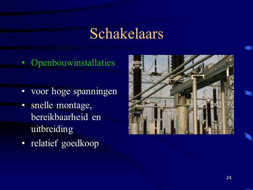 Schakelaars Openbouwinstallaties voor hoge spanningen